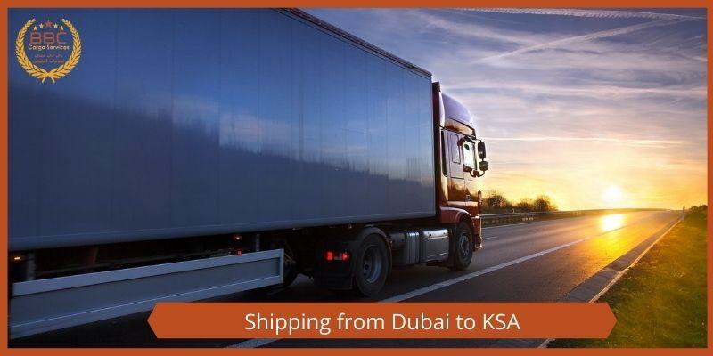 شحن من الامارات الي السعودية
